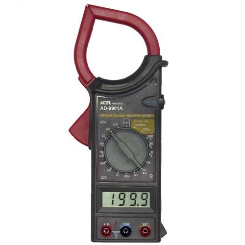ALICATE AMPERÍMETRO DIGITAL ICEL AD-9901A – 1000A