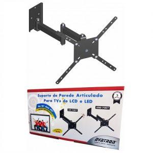 SUPORTE PARA TV AVATRON AR2-730T – 10 A 40 POLEGADAS, BI-ARTICULADO