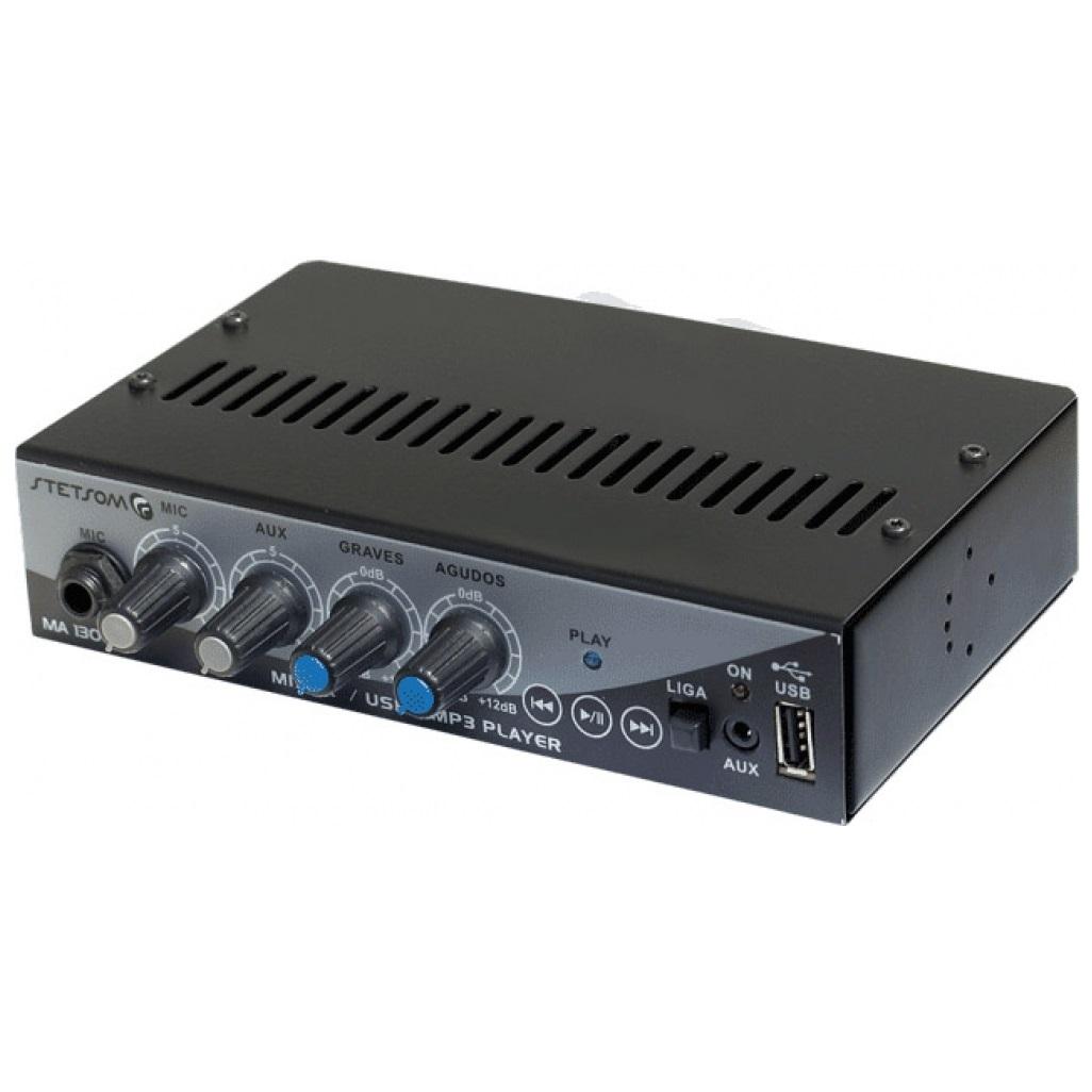 MIXER AUTOMOTIVO STETSOM MA 1300 – 12V, USB/MP3/P2