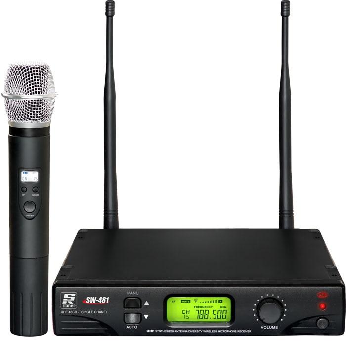 MICROFONE DE MÃO SEM FIO STANER SW-481 – UHF, DIGITAL